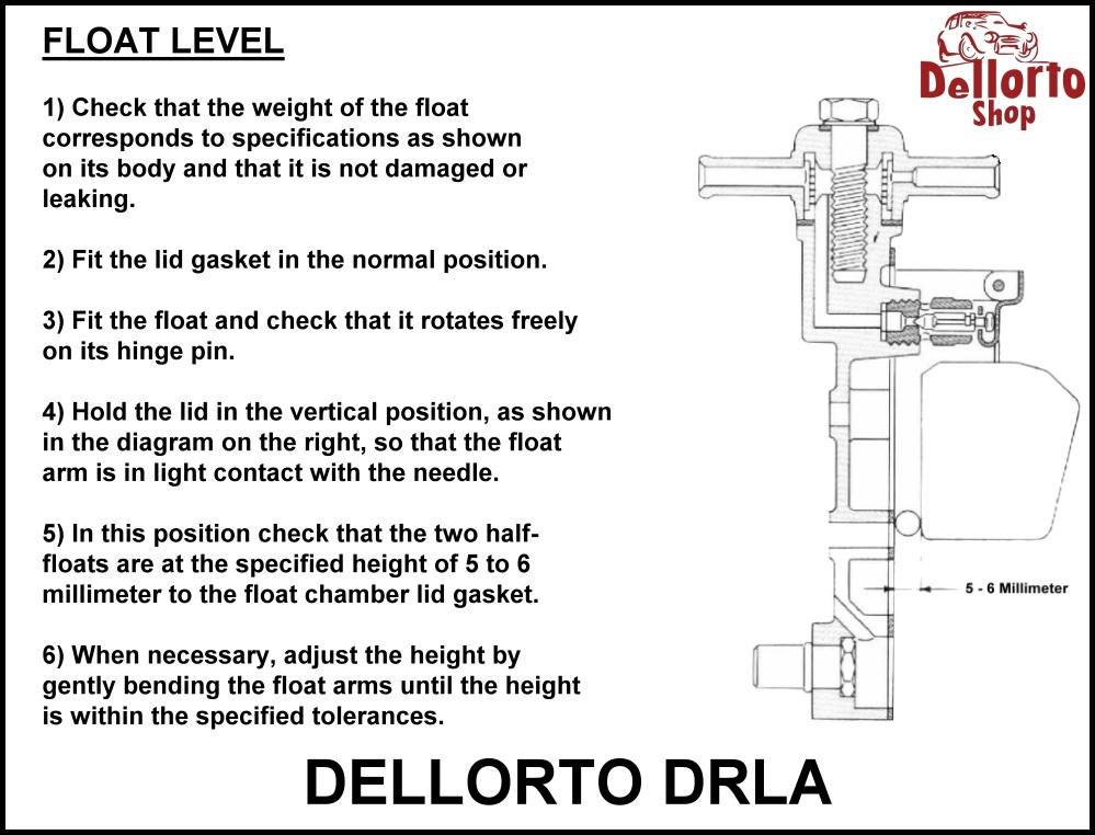 float_level_setting_instructions_dellorto_drla